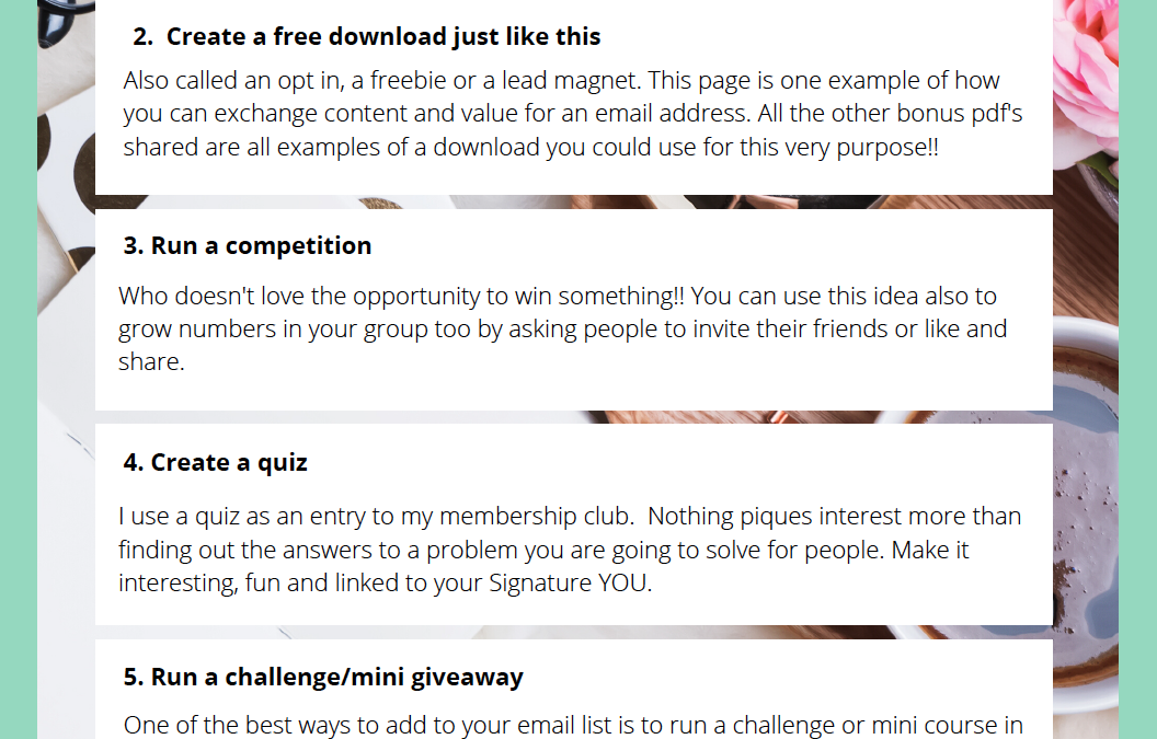 6 Ideas to Grow Your Email List